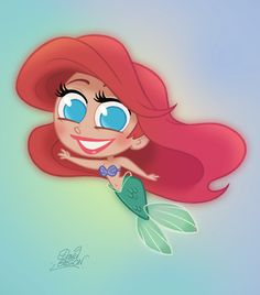 New Disney's Chibie Ariel by princekido on deviantART