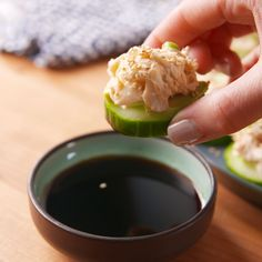 you can have your California roll without the rice and have it still taste AMAZING. Get the recipe at . Sushi Recipes, Seafood Recipes, Gourmet Recipes, Appetizer Recipes, Cooking Recipes, Grilling Recipes, Appetizers, Easy Cooking, Healthy Cooking