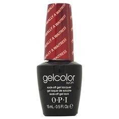 Nail Colors Dark Skin Opi Gelcolor Collection Nail Gel Lacquer, I'm Really Not A Waitress, 0.5 Fluid Ounce -- Want to know more, click on the image.