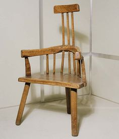 A stick windsor chair, c. 1800, Brecon museum.