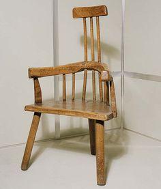 A stick windsor chair, c. 1800, Brecknock museum.