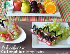 Butterflies and caterpillars party favor or party craft!  Healthy, fun, and delicious!  #healthyparties