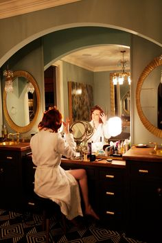 I decided to do my own hair and makeup in my gorgeous bathroom that was designed by the lovely interior duo Pierce and Ward.