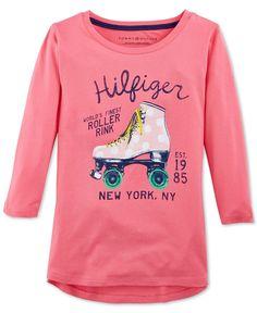 Tommy Hilfiger Girls' Roller Skate T-Shirt