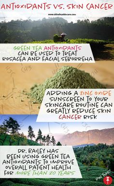 Want your own special weapon against free radicals? Dr. Bailey has information on green tea antioxidants, sun protection, and skin cancer prevention!