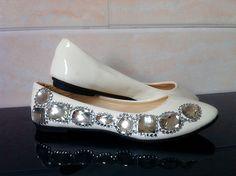 Handmade rhinestone  bridal shoes bridesmaid shoes flat heel white married women's single shoes US $14.99