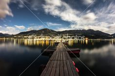 #Southside's #Nightview On #Millstatt #ktr14 @Depositphotos @carinzia #depositphotos #new #stock #photo #download #highres #nature #landscape #night #nightsky #carinthia #austria #bluesky