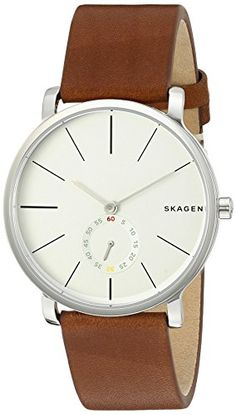 Skagen Mens SKW6273 Hagen Dark Brown Leather Watch *** You can get more details by clicking on the image.
