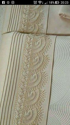 """Diy Crafts - Pike takımı """"This post was discovered by Fatma Korkmaz. Discover (and save!) your own Posts on Unirazi. Crochet Lace Edging, Crochet Borders, Filet Crochet, Crochet Doilies, Crochet Stitches, Vintage Crochet Patterns, Embroidery Patterns, Diy Crafts Crochet, Crochet Symbols"""