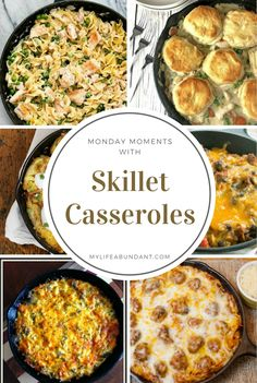 Casserole recipes for your cast iron skillet couldn't be easier to make. One pan, easy ingredients the whole family will love. via @tammy1999