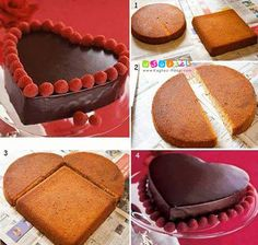Comment réussir un gâteau en forme de cœur parfait! 3 techniques!