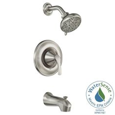 MOEN Darcy Single-Handle 5-Spray Tub and Shower Faucet with Valve in Spot Resist Brushed Nickel-82550SRN - The Home Depot