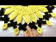 Hi it's Macrame Creation .In this video i'm sharing with u Beautiful Macrame Sunflower Mat /Maceame WallHanging New design/Macrame thalicover Here i used - T. Crochet Thread Patterns, Macrame Patterns, Door Hanging Decorations, Macrame Owl, Diwali Craft, Boho Life, Macrame Design, Wire Crafts, News Design
