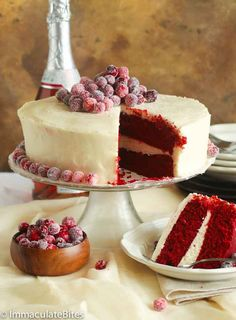 Red Velvet Cake – an elegant and moist layered cake baked from scratch with a chocolate buttery cake tinted red. You'll taste combination of vanilla and chocolate flavors and a tad bit of tang from the buttermilk. An iconic cake with great texture, flavors and frosting! They say saved the best for last. …
