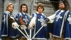 Netflix has just ordered a film from Harrison Query for a modern Three Musketeers. The Three Musketeers 1993, Musketeers Cast, Oliver Platt, Charlie Sheen, Caravan Pictures, Musketeer Costume, Avengers Film, Netflix, Walt Disney Pictures
