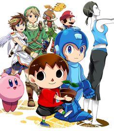 Super Smash Bros artwork by ぴこ. #3DS #WiiU