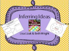 Free!! Love this unit on inferring ideas! Excellent resource!