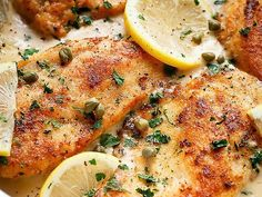 Citromos-parmezános csirkemell Main Courses, Meat, Chicken, Food, Gourmet, Creative, Main Course Dishes, Entrees, Essen