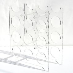 Lucite Acrylic Wine Rack by PopUpModern on Etsy