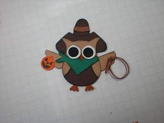 Barbara's World of Whimcees: A Halloween Card and a Cowboy Owl Has Joined His Friends In The Owl Forest Punch Storage, Owl Punch Cards, Paper Punch Art, Owl Card, Cowboy Christmas, Scrapbook Cards, Scrapbooking, 3d Cards, Fall Cards