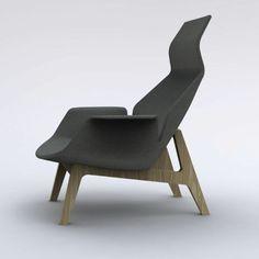 une chaise design dans un style moderne