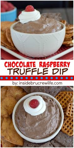 This easy and delicious chocolate raspberry dip can be made in under 10 minutes. It's perfect for dipping just about anything into it!