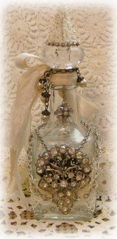 altered bottle for Laura - By Melanie