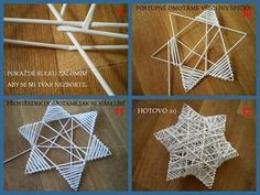 53d95a481309300c44a257cc06993d7e Straw Crafts, Diy And Crafts, Christmas Crafts, Christmas Decorations, Christmas Ornaments, Paper Weaving, Weaving Art, Magazine Crafts, Alternative Christmas Tree