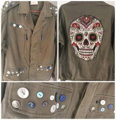 Véritable veste militaire customisée www.defilenlilly.com Jackets, Fashion, Field Jacket, Down Jackets, Fashion Styles, Jacket, Fashion Illustrations, Trendy Fashion, Moda