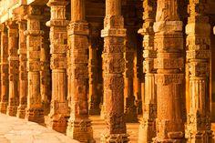 Pillars at Quatab Minar