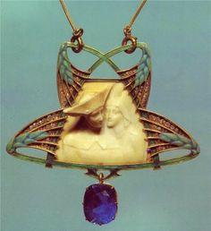 Art Nouveau, Lalique Jewelry, Pendants
