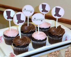 cupcake toppers for western themed baby shower  live. love. scrap.