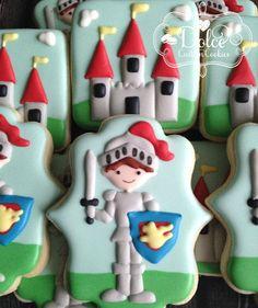 Knight Dragon Castle Cookies by DolceCustomCookies on Etsy