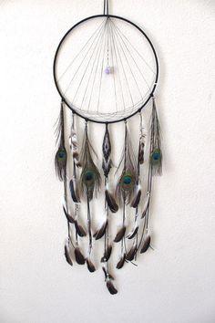 Moonlight Prism Dreamcatcher/Amethyst/Wall Hanging/Decor/Boho/Upcycled/Hippie/Gift/Spirit/Tribal/Native/Zen/Yoga/Design