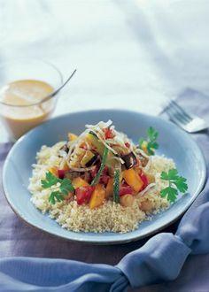 Afrikansk grönsaksgryta med couscous