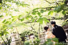 新緑の桜の木の下で*和装前撮り の画像 *elle pupa blog*
