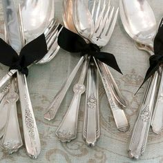 Vintage silver is perfect for special occasions.