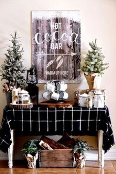 Top Rustic Winter Decoration For Your Home. Here are the Rustic Winter Decoration For Your Home. This post about Rustic Winter Decoration For Your Home was posted Winter Bridal Showers, Baby Shower Winter, Shower Baby, Noel Christmas, Winter Christmas, Xmas, Christmas Kitchen, Rustic Christmas, Christmas Treats