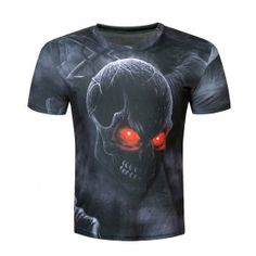 Creative Male 2017 Funny Skull Joker Print T Shirt Summer Short Sleeves  Harajuku Tops T-shirt Men Brand Clothing Tshirt Homme 7459aa5bc36f