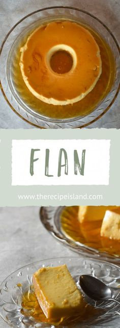 Learn how to make a luscious Flan for your next family gathering. This recipe is one that you'll love to have and your guests will love to eat! Flan Dessert, Custard Desserts, Delicious Desserts, Party Desserts, Dessert Recipes, Pie Recipes, Dessert Ideas, Yummy Recipes, Johnny Cakes Recipe