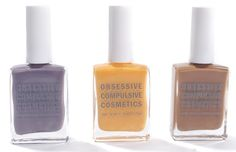Obsessive Compulsive Cosmetics has teamed up with VPL to create three hues of runway-ready #vegan #nail #polish