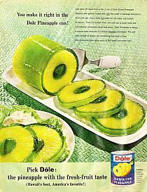 Pineapple Jello 1 box jello mix and 1 can sliced pineapple Open pineapple can, discard juice. Prepare jello using half water called for. Pour jello liquid into can over pineapple slices. Place can in fridge for 4 hours. Pineapple Jello, Pineapple Slices, Canned Pineapple, Drinks In A Pineapple, Fruit Recipes, Cooking Recipes, Cake Recipes, Lime Jello Recipes, Jello Flavors