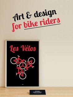 A4 Poster, Les Vélos, Fahrrad Plakat, Tour de France, Geschenk für Männer, Geschenk für Frauen, Geburtstag, Vatertag von FarbwechselDesign auf Etsy