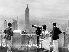 View of Empire State Building From RCA Building - 1933