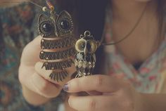 owl necklaces mommy and baby