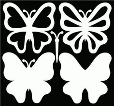 butterfly SVG files and a great sample card on the page.Free butterfly SVG files and a great sample card on the page. Bird Silhouette, Silhouette Projects, Free Silhouette, Silhouette Cutter, Paper Butterflies, Paper Flowers, Diy And Crafts, Paper Crafts, Butterfly Template