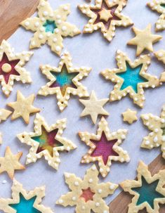 Stained Glass Cookies - Buntglas Plätzchen