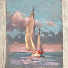 New Pastel Art Ideas To Draw Watercolors Ideas Soft Pastel Art, Chalk Pastel Art, Pastel Drawing, Chalk Pastels, Soft Pastels, Boat Painting, Painting & Drawing, Encaustic Painting, Illustration Art Drawing