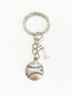 5f2d2fe9e Softball Keychain Softball Player Keychain by girlygifts07 on Etsy Softball  Coach Gifts, Softball Players,