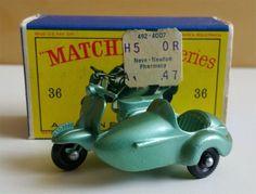 Matchbox Triumph and Sidecar
